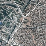 Google Earth map of old and new Kashgar